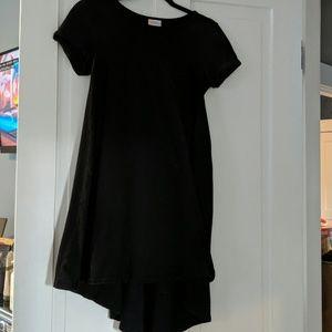 Solid black lularoe carly dress